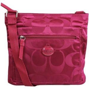 Coach Pinkberry Nylon Crossbody Bag